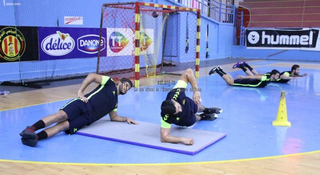 L'entrainement des handballeurs ce lundi (Photos)