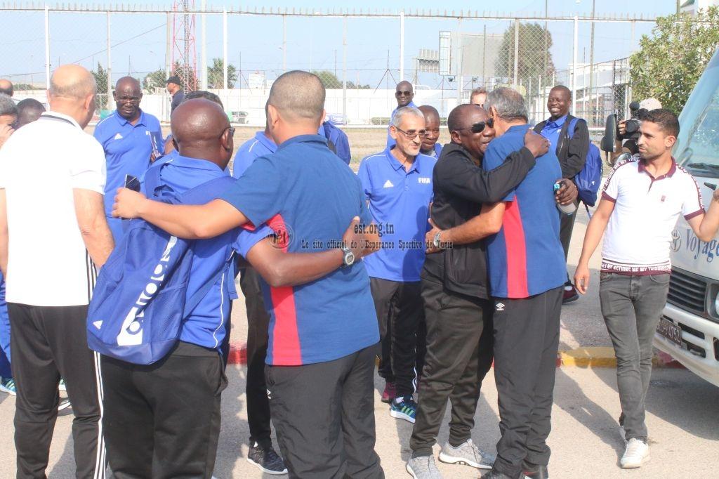 Visite de dirigeants de la FIFA au parc